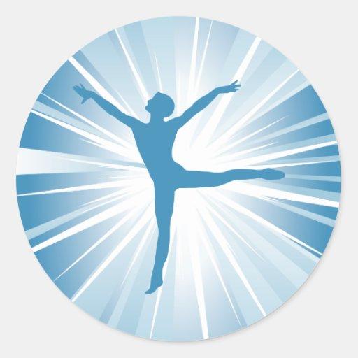 Blue Star Dancer Round Sticker