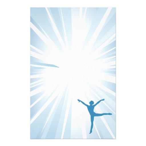 Blue Star Dancer Stationery Paper