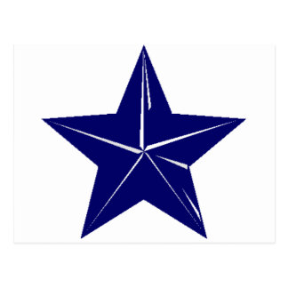 Blue Star design for any purpose!! Postcard