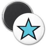 Blue Star design! Fridge Magnet