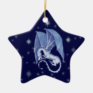 Blue Star Dragon Ceramic Ornament