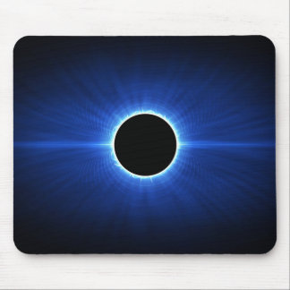 Blue Star Eclipse Mouse Pad