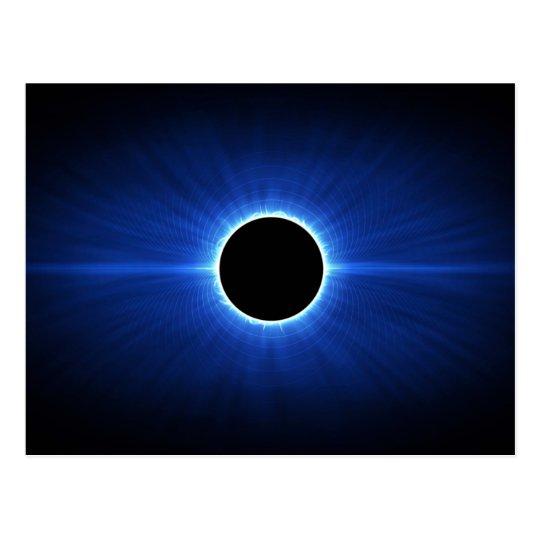 Blue Star Eclipse Postcard