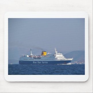 Blue Star Ferry Mouse Pad