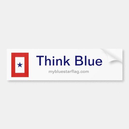 Blue Star Flag bumper sticker Car Bumper Sticker
