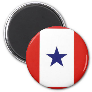 Blue Star Flag round magnet