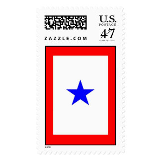 Blue Star Flag Show Support for Loved-ones Serving Postage
