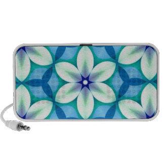 Blue Star Flower Green Portable Speakers