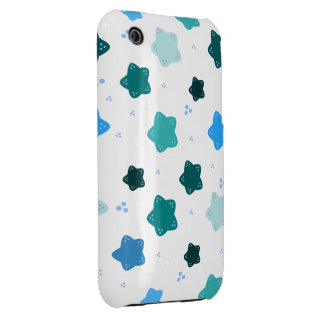 Blue Star Flower Pattern iPhone 3 Cover