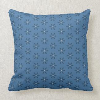 Blue Star Flower Throw Pillow
