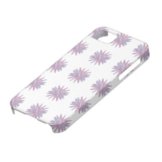 Blue star flowers on white in pattern on phone cas iPhone SE/5/5s case