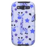 Blue Star Giraffe Pattern Samsung Galaxy SIII Covers
