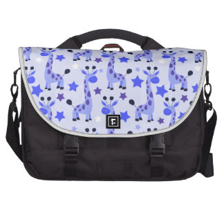 Blue Star Giraffe Pattern Bags For Laptop
