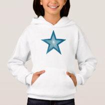 Blue Star girl's hoodie
