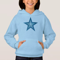 Blue Star girl's hoodie blue