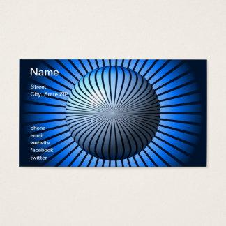 Blue Star Globe Business Card