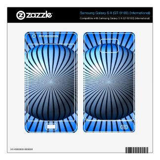 Blue Star Globe Samsung Galaxy S II Skins