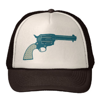 Blue Star Gun Trucker Hat