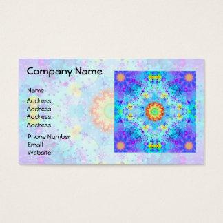 Blue Star Hippy Mandala Patterned Business Card