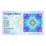 Blue Star Hippy Mandala Patterned Business Card Templates