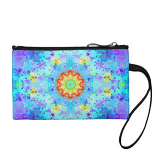 Blue Star Hippy Mandala Patterned Change Purses