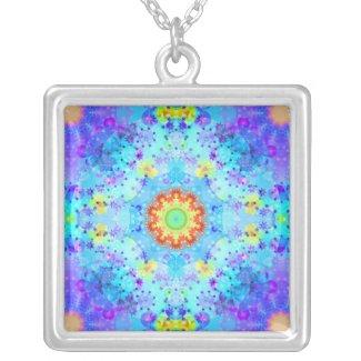 Blue Star Hippy Mandala Patterned Custom Jewelry