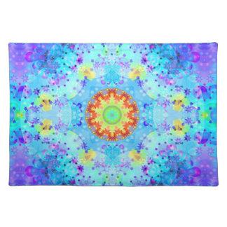 Blue Star Hippy Mandala Patterned Placemat