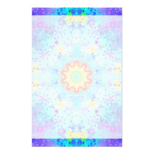 Blue Star Hippy Mandala Patterned Stationery Design