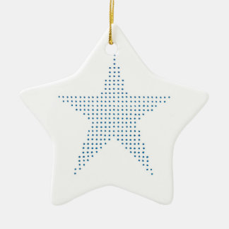 Blue Star in Pointillism, Christmas ornaments