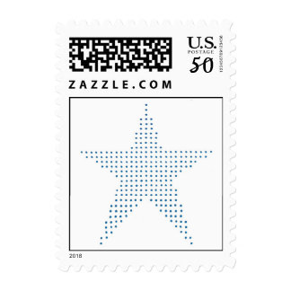 Blue Star in pointillism, postage stamps