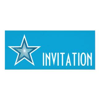 Blue Star 'INVITATION' blue long Card
