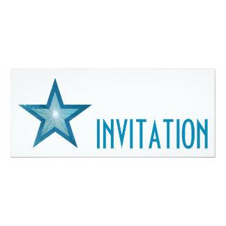 Blue Star 'INVITATION' white long Card