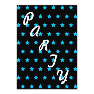 """Blue Star Invite 5"""" X 7"""" Invitation Card"""