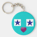 Blue star keychains