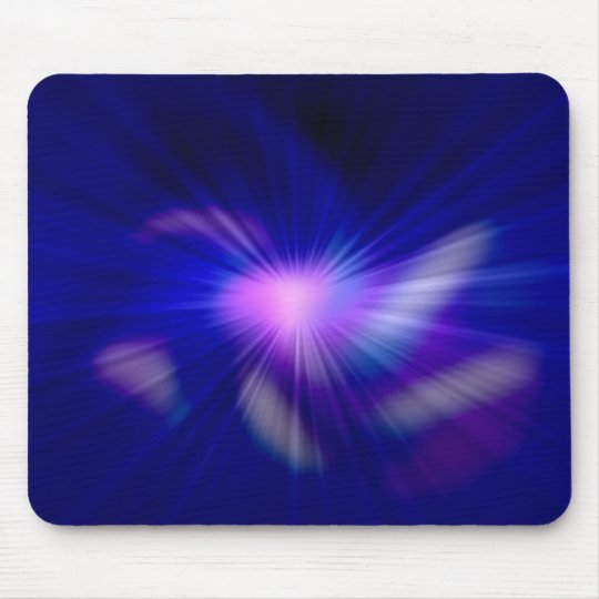 Blue star light mouse pad