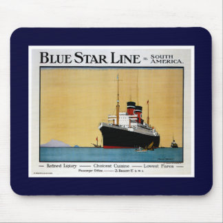 Blue Star Line South America Mouse Pad