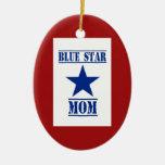 Blue Star Mom Military Ceramic Ornament
