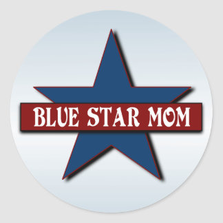 Blue Star Mom Military Classic Round Sticker