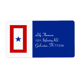 Blue Star Mom Military Family Label