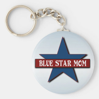Blue Star Mom Military Family Support Keychain