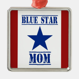 Blue Star Mom Military Metal Ornament