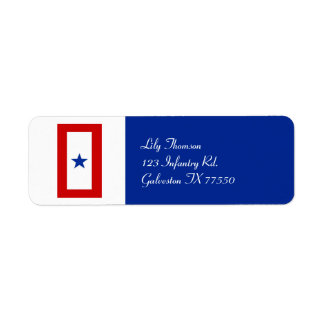 Blue Star Mom Military Personalized Label