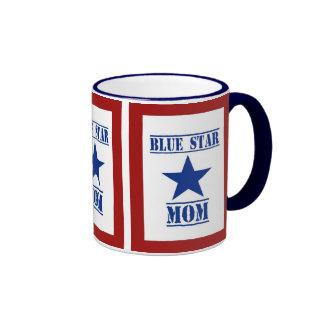 Blue Star Mom Military Ringer Mug