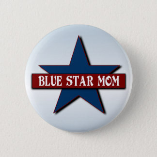 Blue Star Mom Military Support Pinback Button