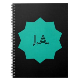 Blue Star Monogram Notebook