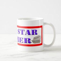 the office star mug. blue star mother - 2 stars coffee mug the office