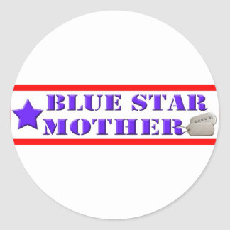 Blue Star Mother Classic Round Sticker