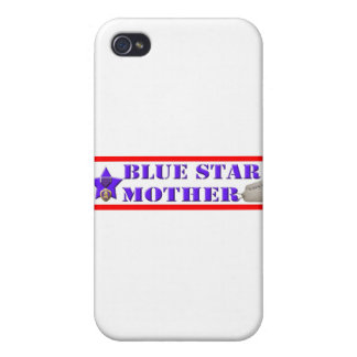 Blue Star Mother Cover For iPhone 4