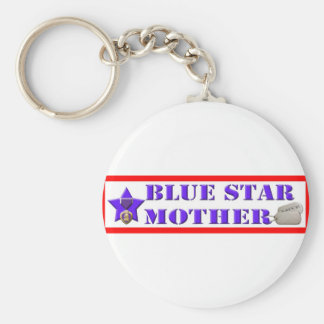 Blue Star Mother Keychain
