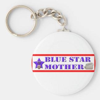 Blue Star Mother Keychain